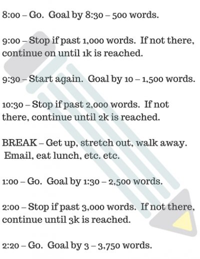 5k Words A Day Itinerary, from J Young-Ju Harris