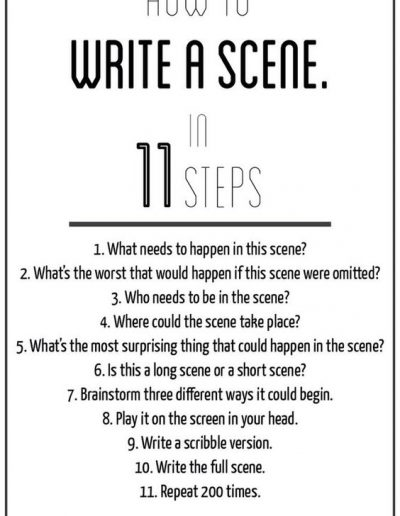 Write a Scene in 11 Steps, from johnaugust.com