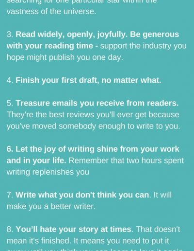Writers' Manifesto, from Natasha Lester