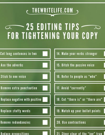 25 Editing Tips, from The Write Life